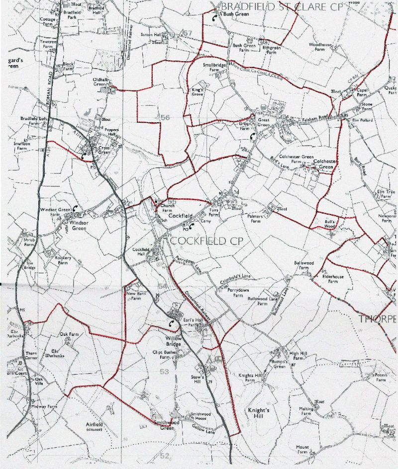 Cockfield public footpaths map