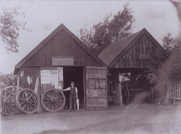 Sheds on Great Green, 1920's