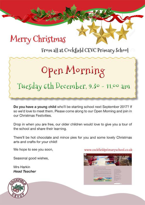 Cockfield School Open Morning @ Cockfield School | England | United Kingdom