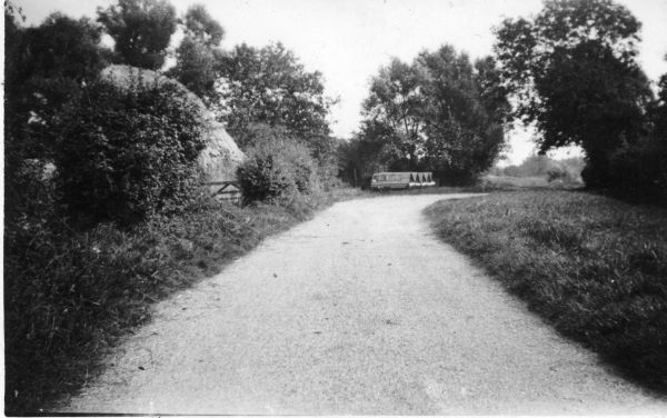 A Cockfield lane in the 1930's