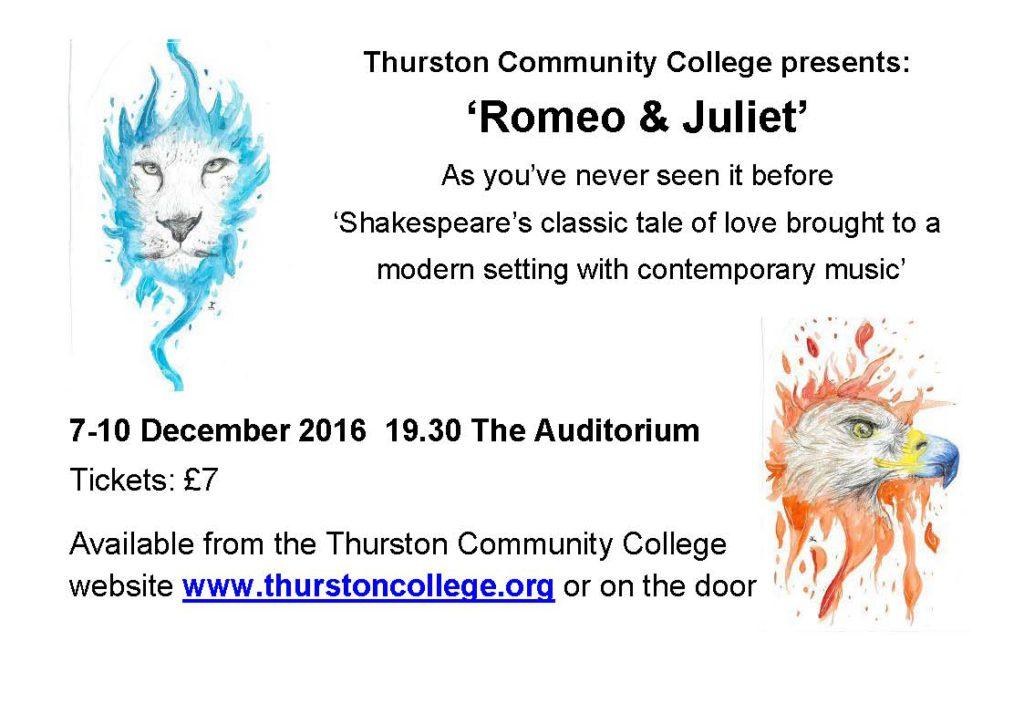 Romeo & Juliet - Thurston Community College @ Thurston Community College | Thurston | England | United Kingdom
