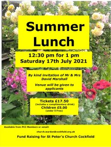 Summer Lunch @ Available when booking | Cockfield | United Kingdom