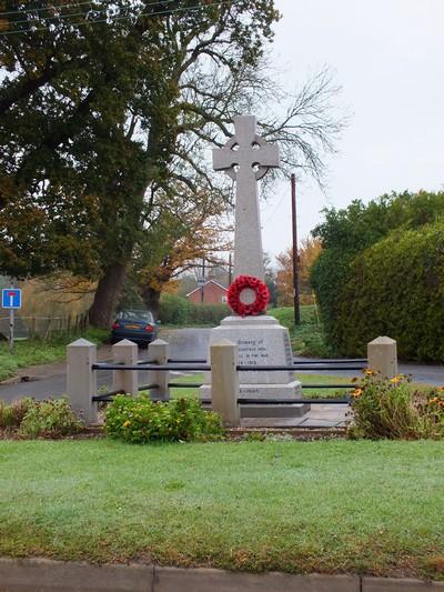 Cockfield war memorial
