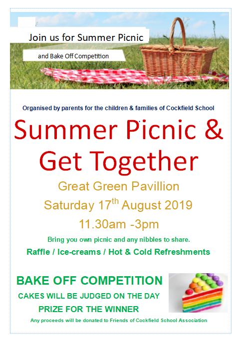 Summer Picnic & Get Together @ Great Green Pavilion