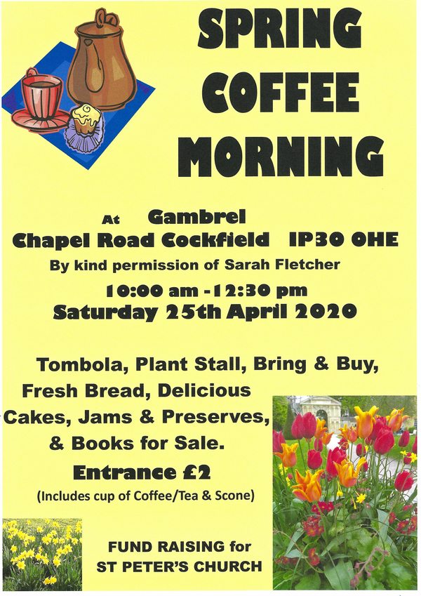 CANCELLED - Spring Coffee Morning
