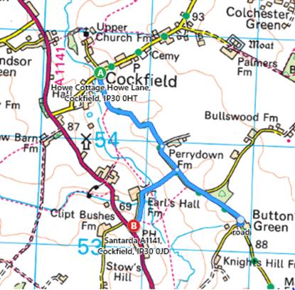 Quiet Lane Map