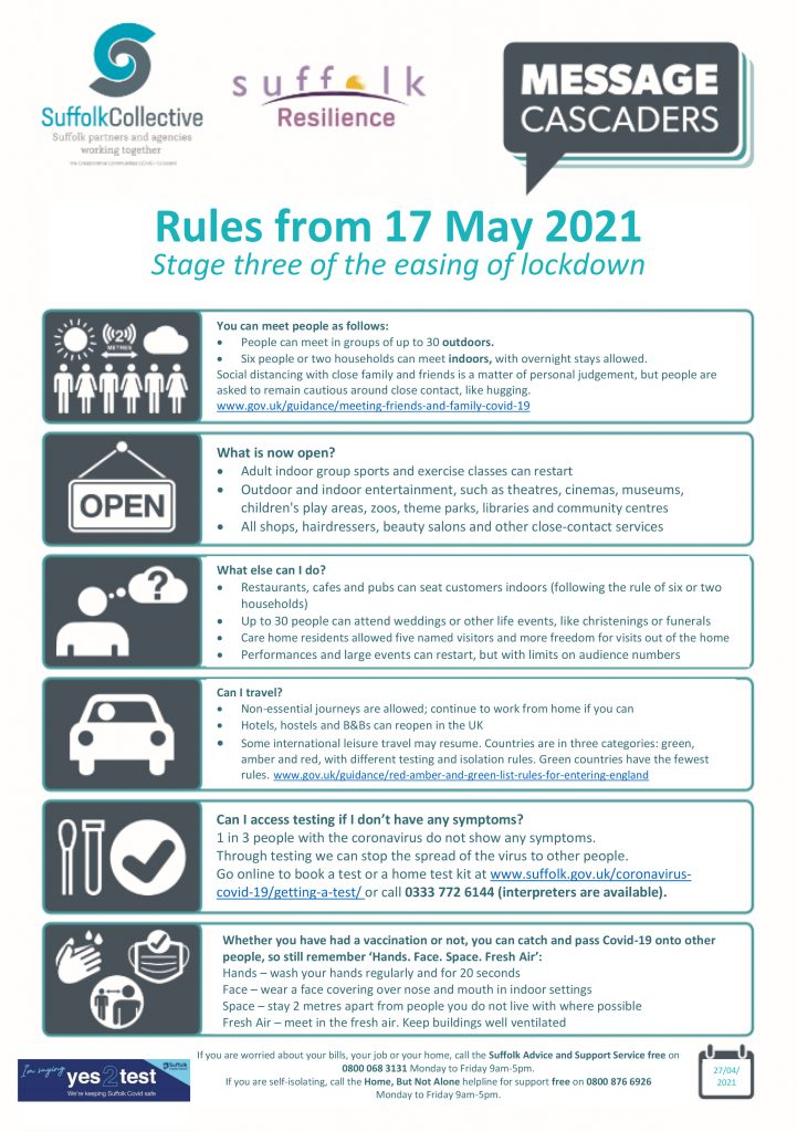 Lockdown Rules from 17 May