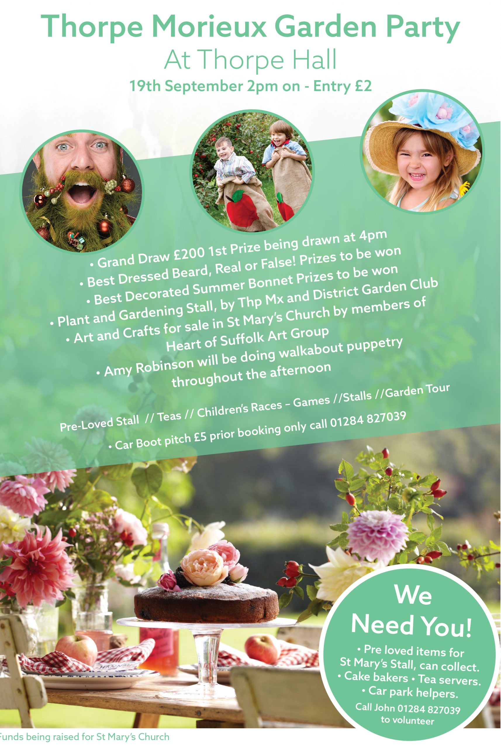 Thorpe Morieux 2021 Garden Party Ad